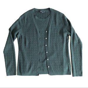 Brooks Brothers silk cashmere cardigan set L